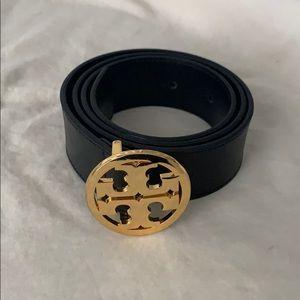 Women's Tory Burch Black Leather Belt - XS